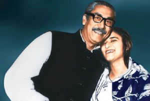 পিতা শেখ মুজিবুর রহমানের সঙ্গে শেখ হাসিনা copyright free image form daily-sun.com